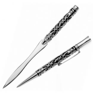 Celtic Birds Ballpoint Pen & Paper Knife Set